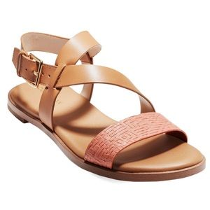 Cole Haan Embossed Almond Findra Leather Sandal